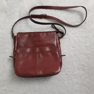Relic maroon crossbody bag